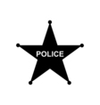 Police star icon vector image
