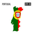 portugal map border with flag eps10 vector image