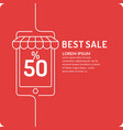 poster the best sales vector image vector image