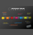 puzzle infographic timeline template vector image vector image
