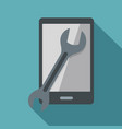 repaired phone icon flat style vector image vector image