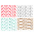seamless pattern in mesh style hexagon concept vector image vector image