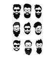 set bearded men vector image vector image