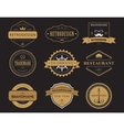 Set of classic company retro badges or banners vector image vector image