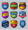 Set of retro badges vector | Price: 3 Credits (USD $3)