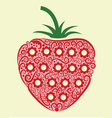 Strawberry ornament vector image vector image