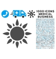 Sun Icon with 1000 Medical Business Symbols vector image vector image