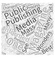 The wonders of magazine publishing Word Cloud vector image vector image