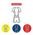 training suit fit icons vector image