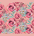 vintage rose floral pattern background vector image vector image