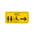 wc toilet icon men and women sign for restroom vector image vector image