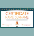 win certificate design template diploma design vector image vector image