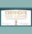win certificate design template diploma design vector image