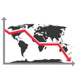 World Map Chart vector image