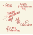 Valentines day calligraphy vector image