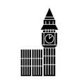 london big ben icon black vector image