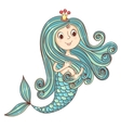Mermaid princess isolated on white vector image