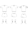 soccer player uniform vector image