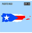 puerto rico map border with flag eps10 vector image