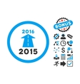 2016 Future Road Flat Icon with Bonus vector image vector image