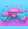 a happy day valentines vector image vector image