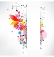 abstract musical background with notes vector image vector image