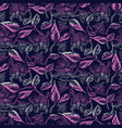abstract sketch drawn florals purple seamless vector image vector image