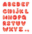 alphabet kid style line latin letter characters vector image
