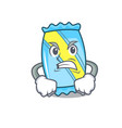 angry candy mascot cartoon style vector image vector image