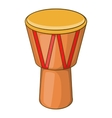 Australia drum icon cartoon style vector image vector image