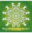 background with snowflake with goat symbol of 2015 vector image vector image