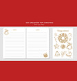 before merry christmas organizer planner notepad vector image