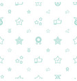 best icons pattern seamless white background vector image vector image