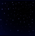 blue stars black night sky background abstract vector image