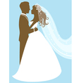 Bride and groom vector image vector image