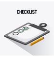 Checklist design flat vector image vector image