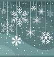christmas snowflakes pattern greeting card vector image vector image