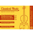 classical music concert violin horizontal music vector image
