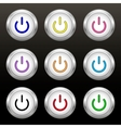 Coloured power buttons vector image vector image