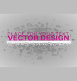 crystal frozen structure vector image vector image