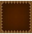 eastern pattern frame vector image vector image