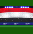 egypt soccer or football stadium background vector image vector image