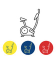 exercise bike fit icons vector image