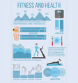 fitness and health infographic vector image vector image