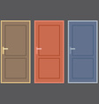 Flat Design Vintage Doors Collection vector image