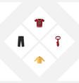 flat icon clothes set of banyan t-shirt cravat vector image