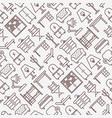 furniture seamless pattern vector image