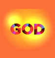 god theme word art vector image vector image