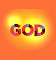 god theme word art vector image