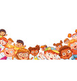 group happy children waving at the camera vector image vector image